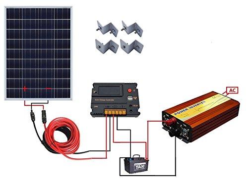 ECO WORTHY 100 Watt 12V Solar Panels Kit + 20A Charge