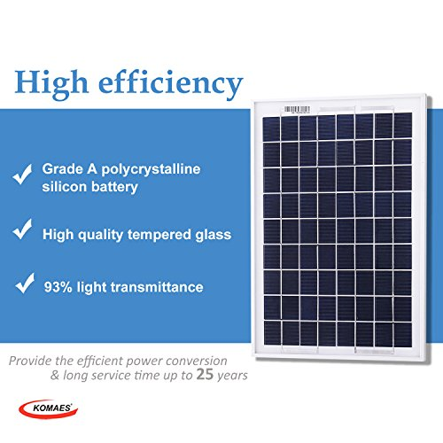Komaes 10 Watt 12 Volt Polycrystalline Photovoltaic Pv Solar Panel 10w Solar Charger For 12v Battery Charging Solar Power Clean Alternative