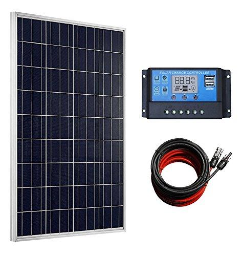 ECO WORTHY 100 Watts Solar Panel + 20A LCD Display PWM