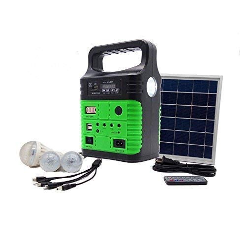 Portable Solar Generator with Solar Panel,Included 3 Sets LED lights,Solar  Power Inverter,Electric Generator,Small Basic Portable Generator Kit,Solar